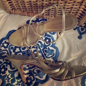 Gold strappy heels - Size 7